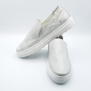J/SLIDES Perrie Slip On Shoe Silver Size 8.5